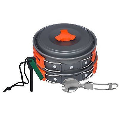 Arcadia Outdoors Cookware Mess Kit for Camping Cookset Lightweight Durable