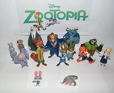 Disney Zootopia Deluxe Party Favors Goody Bag Fillers Set of 14 Figures