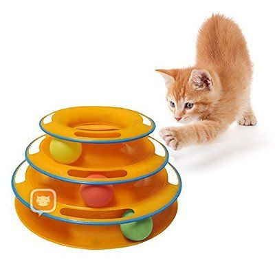Purrfect Feline Titan's Tower - New Safer Bar Design, Interactive Cat Ball Toy