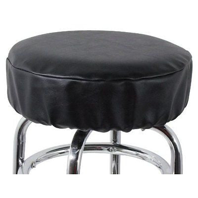 "Royal Industries 2 Count Vinyl Bar Stool Cover Set 15"" Black"