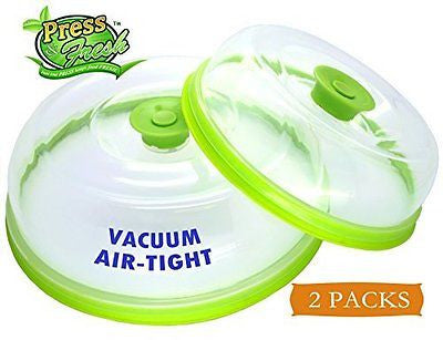 Stackable Vacuum Air-tight Food Sealer Container Plate Platter Lid Cover