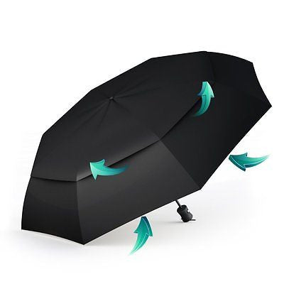 Procella Travel Umbrella - Compact for Easy Carrying, Strong, Durable Double