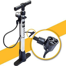 Bicycle Floor Pump with pressure gauge for Presta & Schrader valves