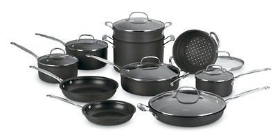 66-17 Chef's Classic Nonstick Hard-Anodized 17-Piece Cookware Set