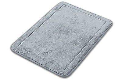 Comfortabel 17-Inch by 24-Inch Memory Foam Bath Rug Mat Set (2) (gray)