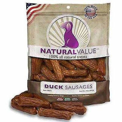 Loving Pets Natural Value Soft Chew Duck Sausages Dog Treats 14 Ounces WLM