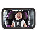 Baby Back Seat Mirror Shatterproof With Light Weight Luxury Matte Black Styling