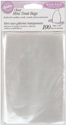 Wilton 1912-1294 100 Count Party Bags, Clear, Mega Pack