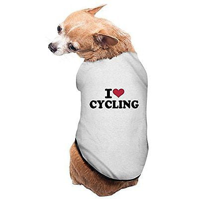 YXMXL English I Love Cycling Small Pet Dog Vest Pet Clothes