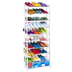 4 7 10 Tier Free Standing Space Saving Storage Organizer Shoe Tower Rack White