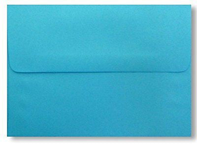 Bright Blue (25 Pack) A7 Envelopes for 5 X 7 Greeting Cards, Invitations