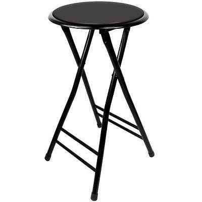 Trademark Gameroom Black Cushioned Folding Stool 24