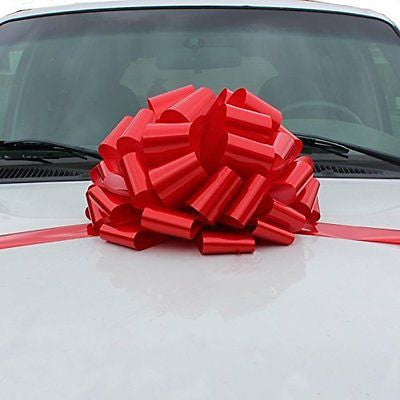 "Large Car Bow, 16"" Wide - Red"