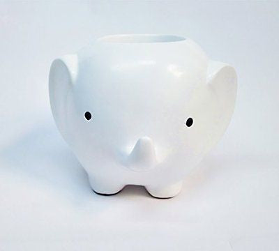 Devis Cute Elephant Pencil Holder Creative Pen Organizer for Desk(White)