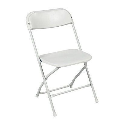 White Plastic Folding Chairs Stackable Wedding Party Event Chair