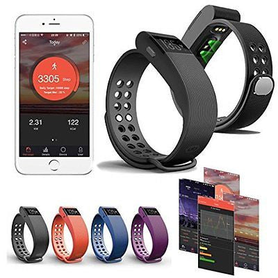 Bluetooth Heartrate Bracelet Watch Android iPhone,Gotd ID105 Health Tracker