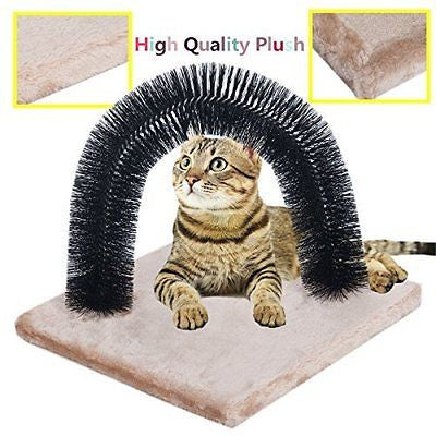 Favorite? Cat Self Grooming Arch/ Arch Cat Self Groomer with Square Fleece Base/