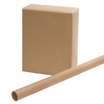 "2 ROLLS - Brown Kraft Wrapping Paper 30"" x 15 Feet x 2 Rolls"