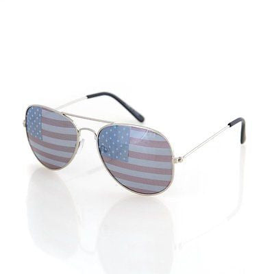 Aviator USA America American Flag Sunglasses