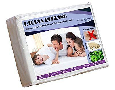 Zippered Box Spring Encasement-XXL - Bed Bug Proof, Water Resistant
