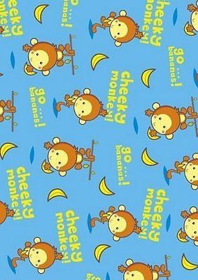Cheeky Monkey Gift Wrapping Paper - Pack of 2 Sheets And Tags