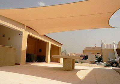 Square Sun Shade Sail Canopy Tan 12'x12'