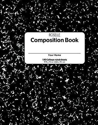School Smart 1439309 Hardcover Composition Book, 200 Sheets, 9-3/4