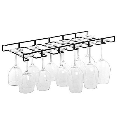 Modern Metal Wire Cabinet Stemware Wine Hanger Organizer Storage Holder Rack