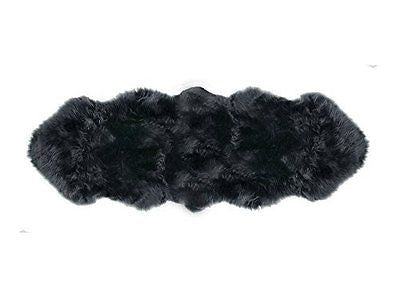 PREMIUM Sheepskin Rug 2 Pelt Steel Gray Fur