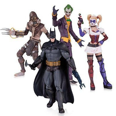 DC Collectibles Batman: Arkham Asylum: The Joker, Harley Quinn, Scarecrow