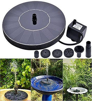 Rockbirds PQ03 Solar-Powered Bird Bath Fountain Pump Power Panel Kit Water Pump