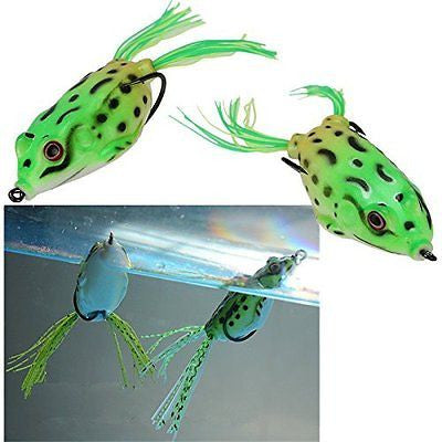 5.5Cm Frog Topwater Fishing Lure Crankbait Hooks Bass Bait Tackle Us Ship