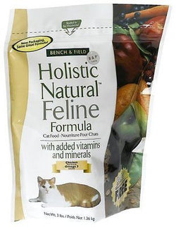 Bench & Field Holistic Natural Feline Formula, Cat Food, 3-Pound Bags