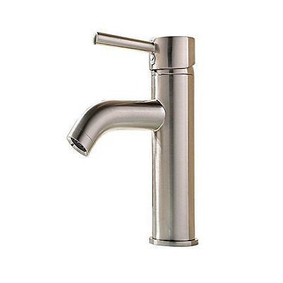Brass Single Handle Stainless Steel Sink Faucet Nickel Lavatory Sink Faucet