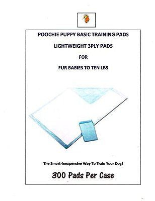 "400c/s Poochie Basic Training Puppy Pads 23x24"" up to 20lb Dogs"