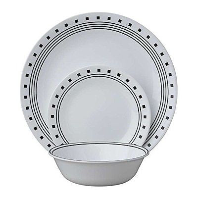 Livingware 18-Piece Dinnerware Set City Block Service for 6