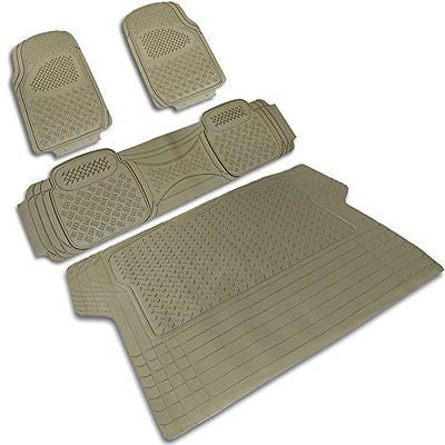 Spec-D MAT-3201BGE Beige All Weather Floor Mats 4pcs Lifetime Warranty