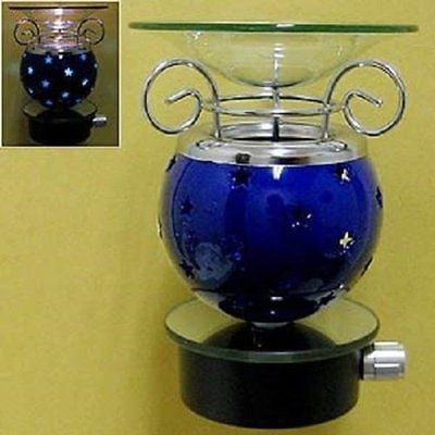 Star Blue Oil Diffuser Wall Plug in Fragrance Tart Warmer Burner Night Light