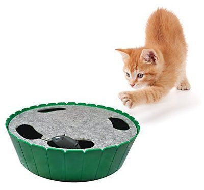 Purrfect Feline-Premium Interactive Cat Toy, Burrow Mouse, Hide & Seek Game