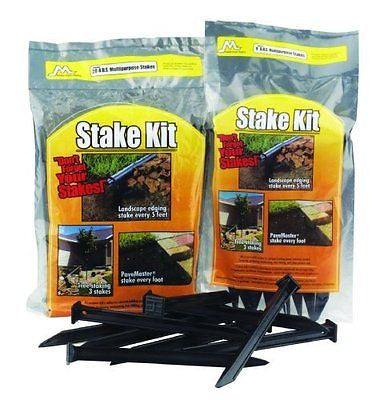 Master Mark Plastics 12120 ABS Plastic Stake Anchors For Landscape Edging