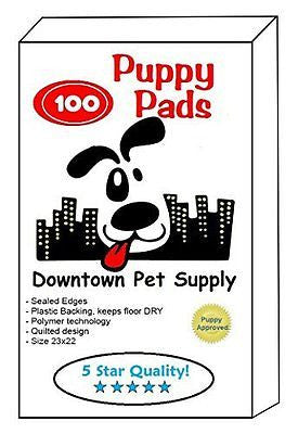 Downtown Pet Supply 100 Count Super-Absorbent Polymer Puppy Dog Wee Wee Housebre