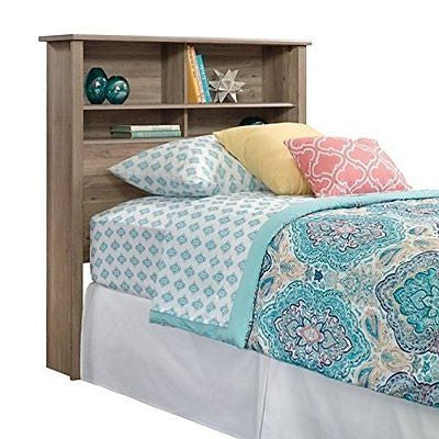 Sauder County Line Twin Bookcase Headboard in Salt Oak
