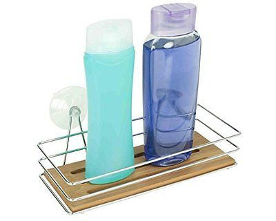 Home Basics SC41189 Bamboo Bath Caddy with Suction