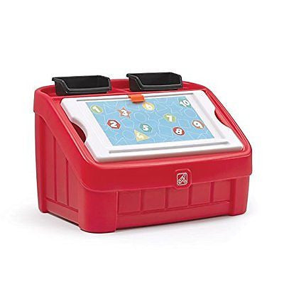 Step2 2-in-1 Toy Box and Art Lid, Red