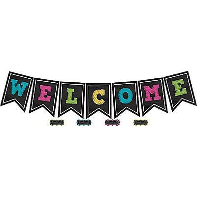 Teacher Created Resources Chalkboard Brights Welcome Pennant Bulletin Board