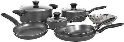 Initiatives Nonstick Inside and Out Dishwasher Safe Oven Safe Cookware Set