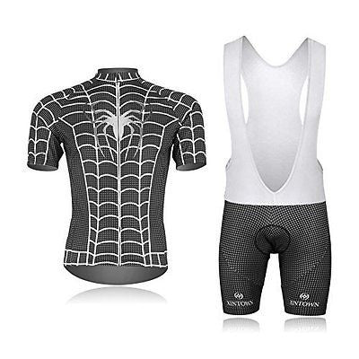 Weelly Summer Hero Men Short Sleeve Cycling Jersey Shirts Pants Coolmax Pad