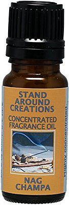 Concentrated Fragrance Oil - Nag Champa: Has the aroma of incense; patchouli