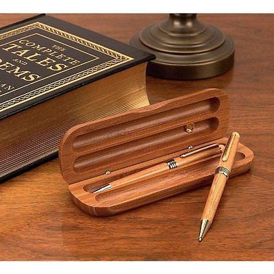 Alex Navarre Durable Bamboo Ballpoint Pen And Pencil Set