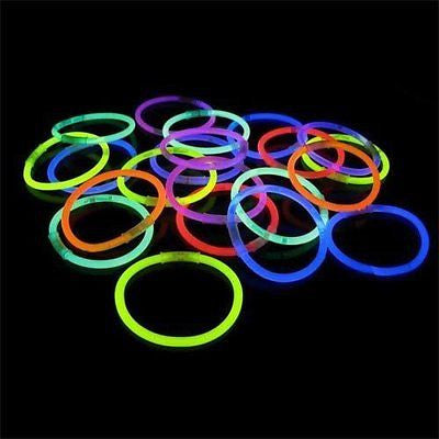 "100 22"" Glow Light Stick Necklaces WHOLESALE PACK"